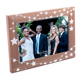 Star Lights Wood Finish Frame
