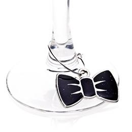 Black Bow Tie Charm