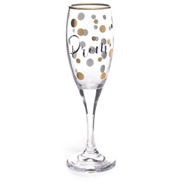 Rimmed in Gold Dots Prom Flute