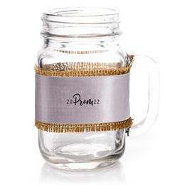 Mason Jar With Prom Wrap