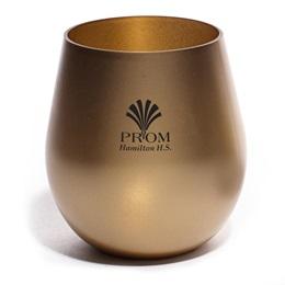 Gold Plastic Bowl Tumbler