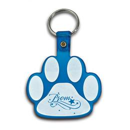 Colored Bendable Paw Shaped Key Tag