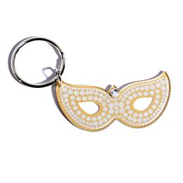 Blinged Out Mask Key Chain