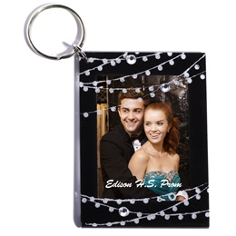 Diamond Lights Photo Key Chain
