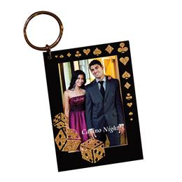 Golden Gambler Photo Key Chain