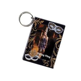 Silver Masques Photo Key Chain