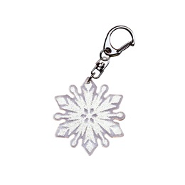 Glitter Snowflake Key Chain