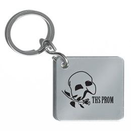 Silver Diamond Key Tag