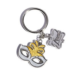 Mask and Charm Key Chain