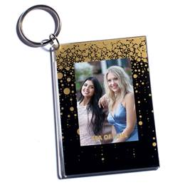 Glitter Bubble Rain Photo Key Chain
