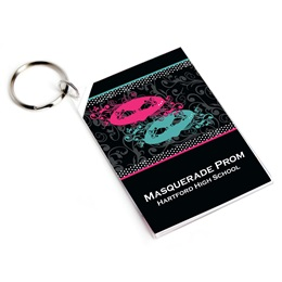 Full-color Rectangle Key Chain - Masquerade Mystique