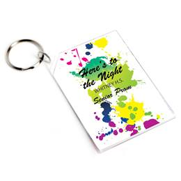 Full-color Rectangle Key Chain - Make A Splash