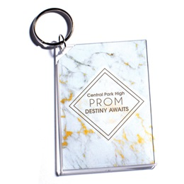 Full-color Rectangle Key Chain - Marble Prom