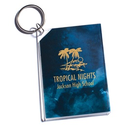 Full-color Rectangle Key Chain - Watercolor Gold Prom