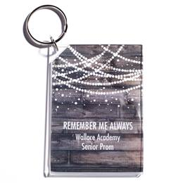 Full-color Rectangle Key Chain - Rustic Glam