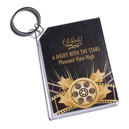 Full-color Rectangle Key Chain - Hollywood Glam