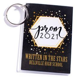 Full-color Rectangle Key Chain - Golden Cosmos Prom 2021
