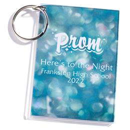 Full-color Rectangle Key Chain - Prism Bubbles