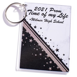 Full-color Rectangle Key Chain - Day and Night Sparkle