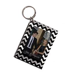 Glitter Chevrons Photo Key Chain