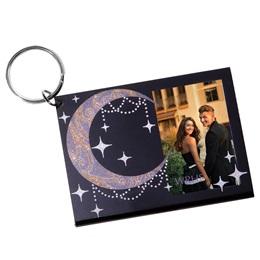 Moonrise Sparkle Photo Key Chain