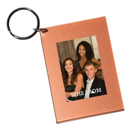 Rose Gold Foil Photo Key Chain