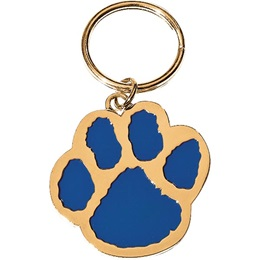 Paw Blue and Gold  Keytag - blank