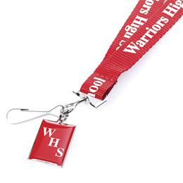 Screened Lanyard With Domed Metal Tag