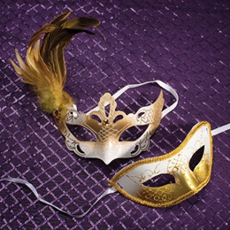 Gold and White Mask Set