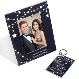 Full-color Frame and Key Chain Set - Hanging Stars