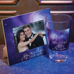 Full-color Frame and Tumbler Set - Purple Galaxy