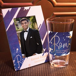 Full-color Frame and Tumbler Set - Prom Script on Blue