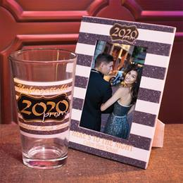 Full-color Frame and Tumbler Set - Gold Glitter Prom 2020