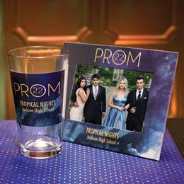 Full-color Frame and Tumbler Set - Watercolor Gold Prom