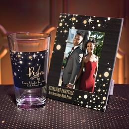 Full-color Frame and Tumbler Set - Gold Stars and Moons
