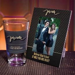 Full-color Frame and Tumbler Set - Prom Polka Dots