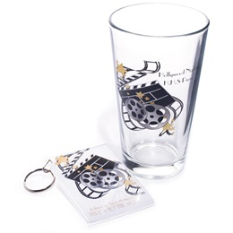 Full-color Tumbler and Key Chain Set - Movie Reels