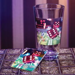 Full-color Cardini Tumbler and Key Chain Set - Lady Luck