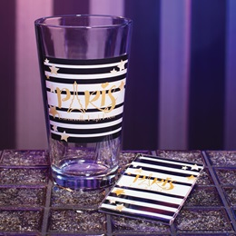 Full-color Tumbler and Key Chain Set - Stars and Bars