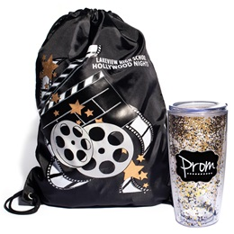 Movie Reels Bag/Glitter Cup Favor Set