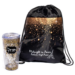 Bubble Rain Bag/Glitter Tumbler Favor Set