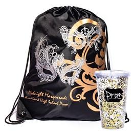 Silver Masks Bag/Glitter Cup Favor Set