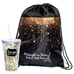 Bubble Rain Bag/Glitter Cup Favor Set