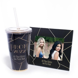 Super Sparkling Tumbler and Budget Frame Set - Geo Lines