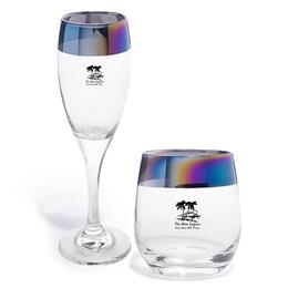Rainbow Rim Glass Favors Set
