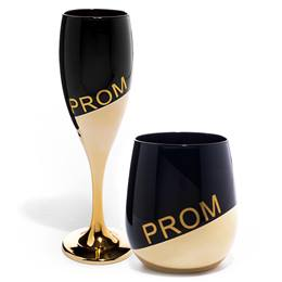 Gold and Ombre PROM Glass Favors Set