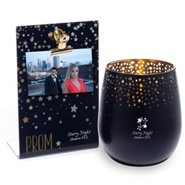 Gold Star Radiance Bowl Tumbler and Sparkle Stars PROM Clipboard Frame Set