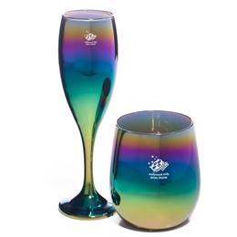 Rainbow Ombre Flute and Tumbler Set