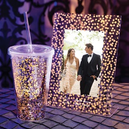 Confetti Sparkle Frame and Tumbler Set