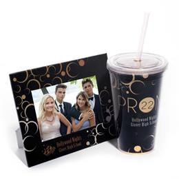 Super Sparkling Tumbler and Budget Frame Set - Abstract Bubbles